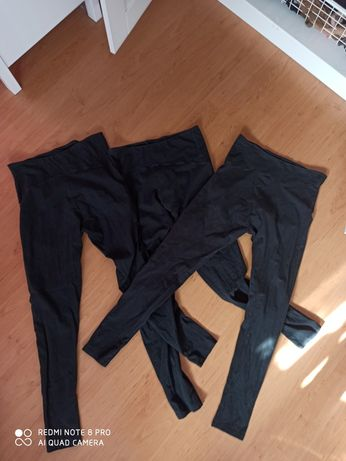 Legginsy spodnie ciążowe 40/42 Esmara czarne 3 sztuki