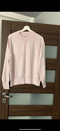 Pastelowo różowy pastelowy sweter cienki basic H&M
