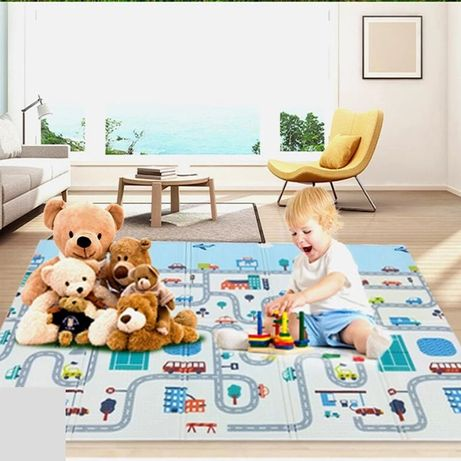 Коврик детский раскладной,двухсторонний для девочки и мальчика,наличие