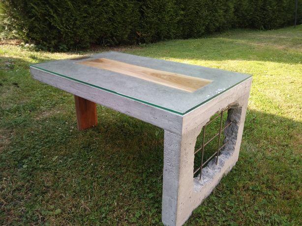 Stolik, ława z betonu