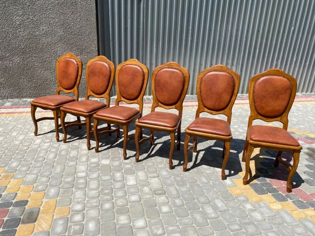 Krzesła skórzane NOWE  6 sztuk