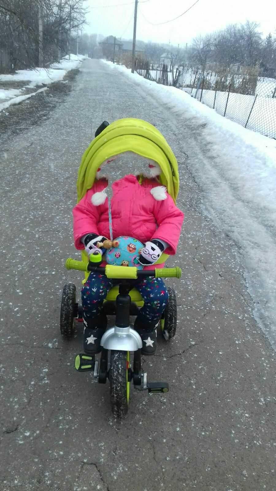 Дитячий трьохколісний велосипед