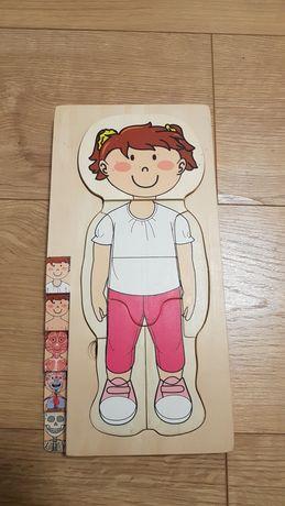 Puzzle drewniane Ciało dziewczynka Lidl