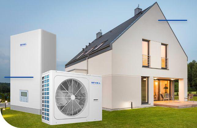 Pompa ciepła SEVRA z COP aż do 5.2 R32 8,3KW dla domu 120-160m2