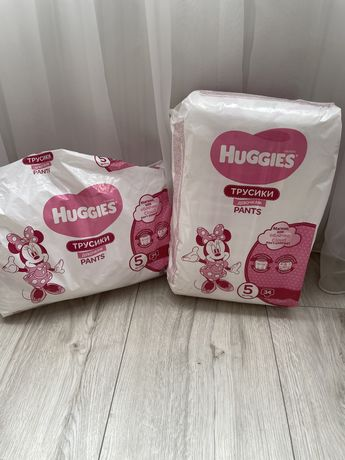 51 шт! Трусики подгузники Huggies Pants 5 (12-17 кг) для девочки