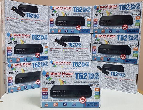 Новый World Vision T62D2 приставка т2 ресивер тюнер DVB-T2/C YouTube