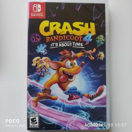 Nintendo Switch Crash Bandicoot it´s About Time Selado