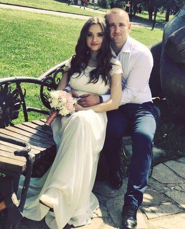 Весільна ніжна сукня (вечірня)