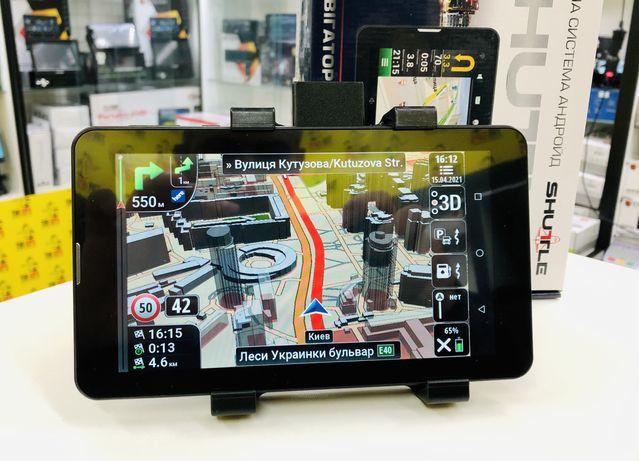 GPS навигатор Shuttle PNT-7045 2sim 1GB 16GB в комплекте IGO 2021