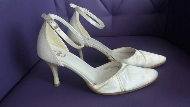 Buty ślubne, komunijne, ecru, rozmiar 33