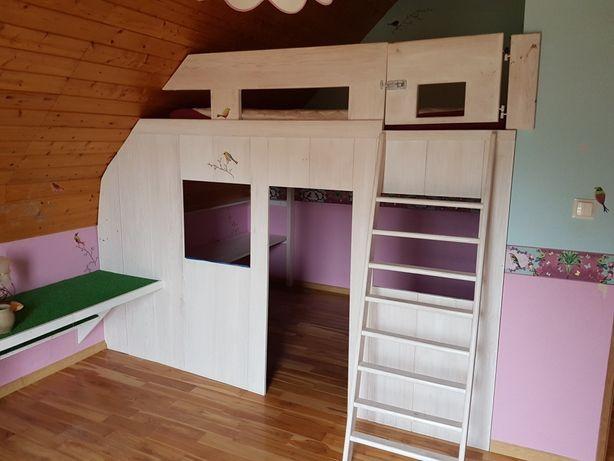 Łóżko piętrowe z domkiem pod łóżkiem- Prawdziwe drzewo!