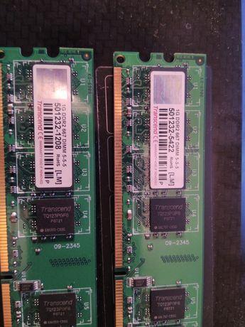 Память Transcend 1 GB DDR2 667 DIMM 5-5-5