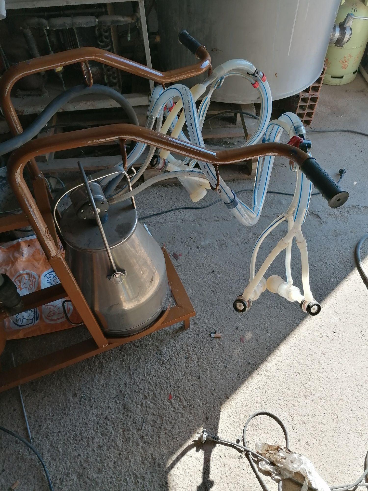 Máquina de ordenha de 2 cabras ou ovelhas usada