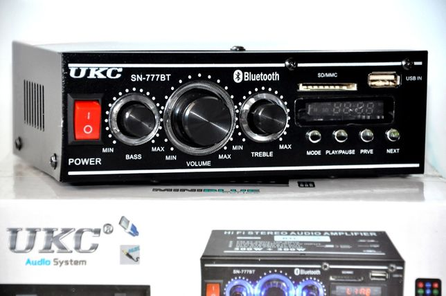 Nowy Wzmacniacz USB SD FM MP3 Bluetooth Amplifier Tuner Radio 2x 120W