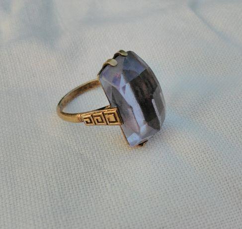 Кольцо - 875 проба, звезда (СССР). Перстень. 4,74 г. Камень