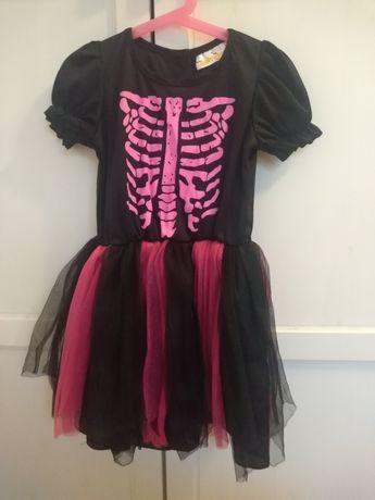 Sukienka 'kościotrup' Halloween/karnawał r. 116
