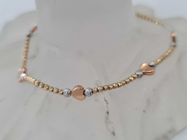 Bardzo kobieca złota bransoletka damska/ 585/ 3.97 gram/ 19.5 cm