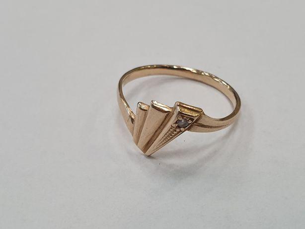 Klasyczny złoty pierścionek damski/ 585/ 2.1 gram/ R19/Świętojańska 40