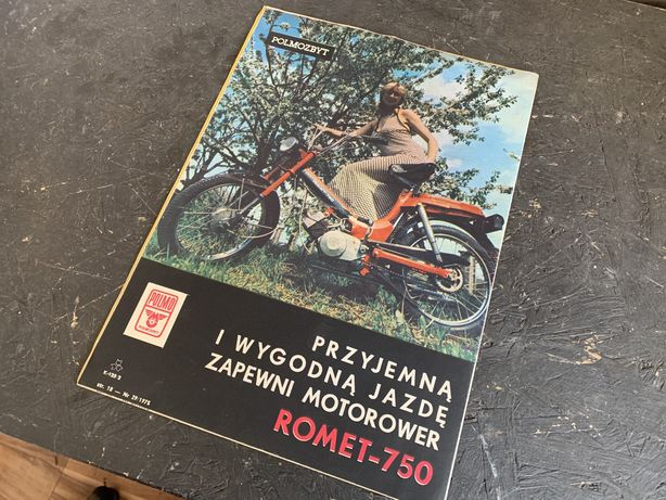 Romet Pegaz 750 plakat reklamowy oryginal A4 motorynka komar