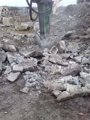 Rozbiórki,wyburzenia,wywóz gruzu, kucie betonu, kruszywo betonowe