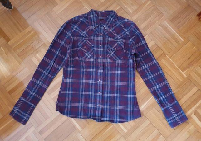 Fioletowa koszula w kratę