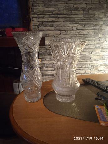 2 wazony kryształowe