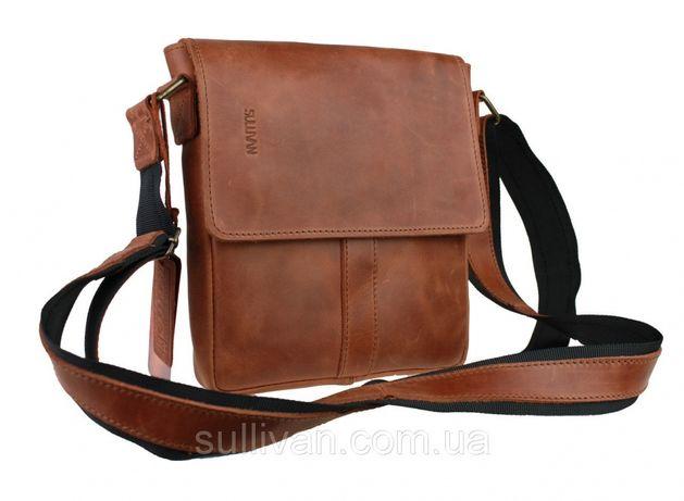 Мужская кожаная сумка ручной работы фирмы Sullivan