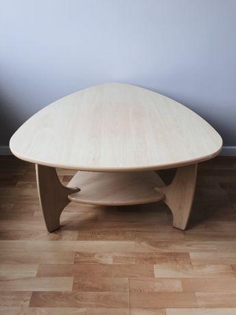 Stolik trójkątny kawowy 87 cm / salonowy z półką (możliwa wysyłka)