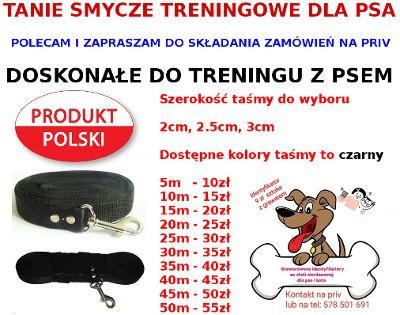 Smycze treningowe do szkolenia psa - różne długości