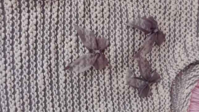 Нарядный свитшот для девочки из ажурного трикотажа Bembi размер 122