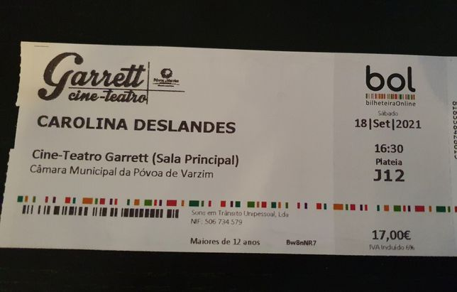 Bilhete Carolina Deslandes