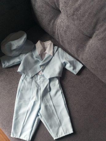 ubranko do chrztu dla chłopca 62-68 cm