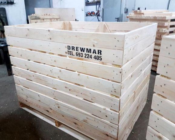 Skrzyniopalety drewniane ,wzmacniane, klejone 120x160x120cm na warzyw