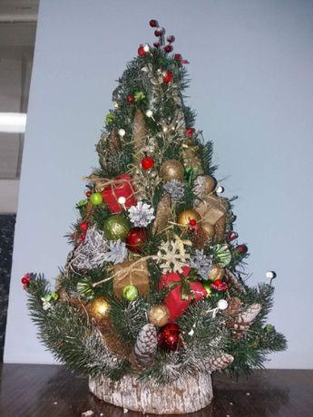 Изготовлю наборы Елка настольная 50 см + венок рождественский+подсвечн
