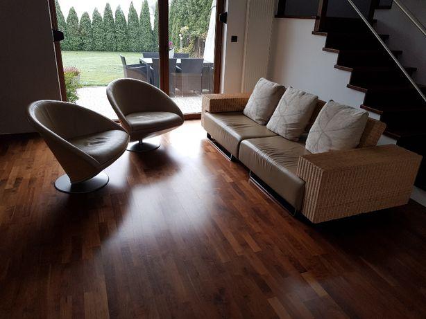 RATTAN PRESTIGE – designerski komplet wypoczynkowy sofa + 2 fotele