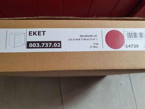 Estante parede/cubo Eket vermelha (nova) Ikea