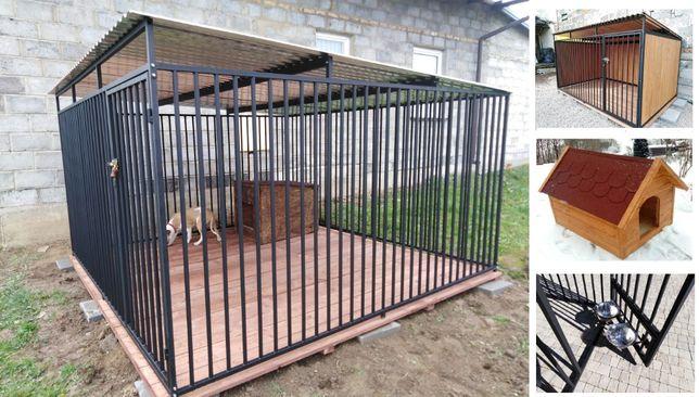 Kojec dla psa 3x3m, klatka, boks, zagroda, wiaty