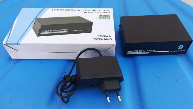 Rodzielacz, spliter VGA 1 na 4
