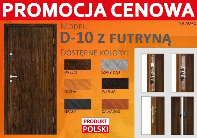Drzwi wejściowe do bloku z montażem - produkt polski
