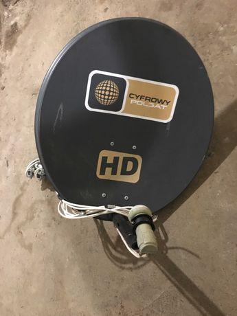 Talerz satelitarny z konwerterem i mocowaniem