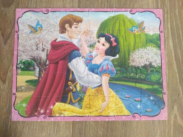 5 układanek puzzle dla dziewczynki, Pony, Zosia, Myszka Minnie