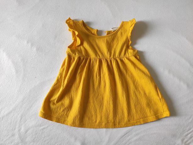 Sukienka hm żółta 68