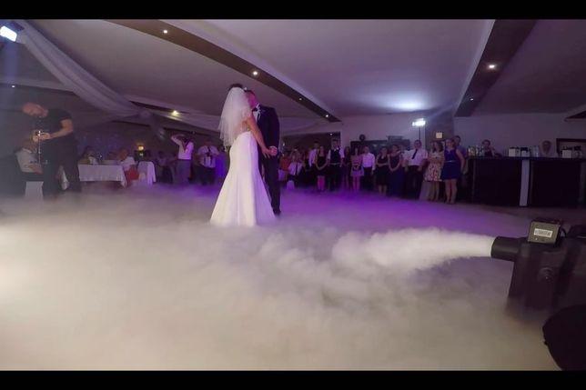 Taniec w chmurach, ciężki dym na pierwszy taniec, suchy lód