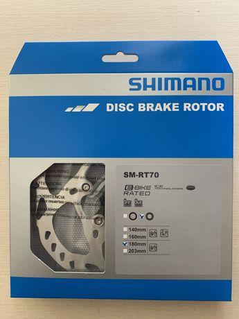 Ротор SHIMANO SM-RT70-M ICE TECH, 180мм и 160mm, CENTER LOCK