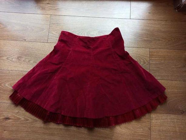 Bardzo kobieca spódniczka z koła w super kolorze i kroju r. 38, M
