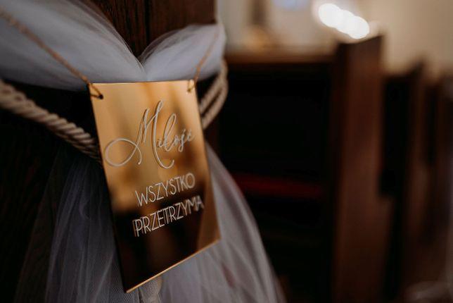Dekoracja kościoła - ślub.