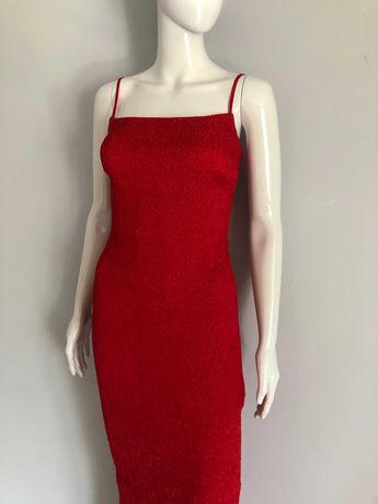 Czerwona maxi wieczorowa sukienka by Josef Klir