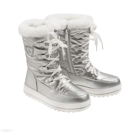 Cool Club, Śniegowce dziewczęce, ocieplane, srebrne r 34
