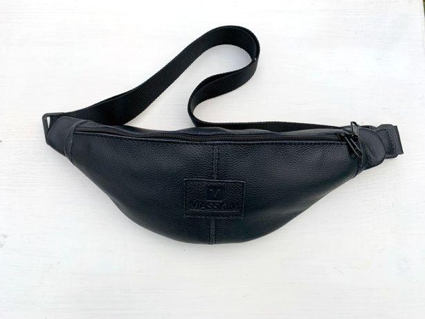 Кожаная сумка бананка, поясная сумка, плечевая сумка на пояс, барсетка