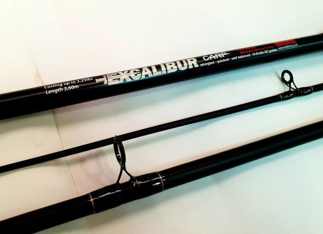 Карповые удилище Excalibur Baloo Carp BratFishing